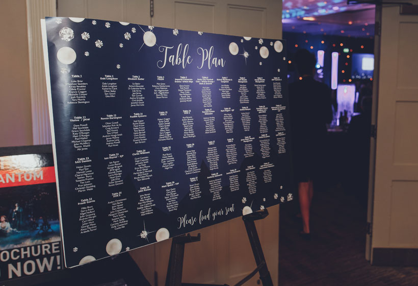 table planner design